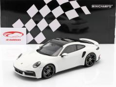 Porsche 911 (992) Turbo S year 2020 white 1:18 Minichamps