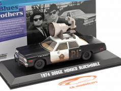 Dodge Monaco Bluesmobile Blues Brothers 1980 nero / bianco 1:43 Greenlight