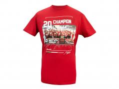 Mick Schumacher T-Shirt formule 2 Champion du monde 2020 rouge