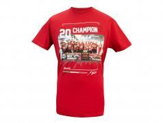 Mick Schumacher T-Shirt fórmula 2 Campeón mundial 2020 rojo