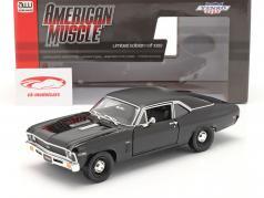 Chevrolet Yenko Nova 建设年份 1969 黑色的 1:18 AutoWorld