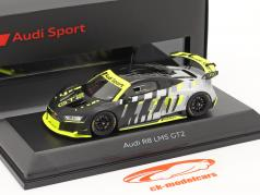 Audi R8 LMS GT2 Presentation Car black / grey / yellow 1:43 Spark