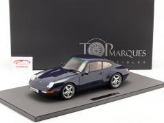 Porsche 911 (993) Carrera 2 Byggeår 1994 mørkeblå metallisk 1:12 TopMarques