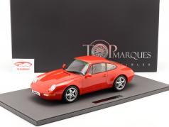 Porsche 911 (993) Carrera 2 Byggeår 1994 rød 1:12 TopMarques