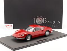 Ferrari Dino 206 GT Byggeår 1969 rød 1:12 TopMarques