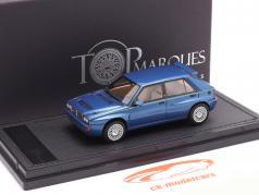Lancia Delta HF Integrale Evo 2 Byggeår 1992 lagos blå metallisk 1:43 TopMarques