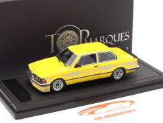 BMW 3 series 323 C1 2.3 Alpina year 1983 yellow 1:43 TopMarques