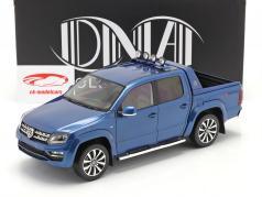 Volkswagen VW Amarok Aventura 建设年份 2019 蓝色 金属的 1:18 DNA Collectibles