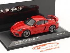 Porsche 718 (982) Cayman GT4 建设年份 2020 守卫 红色的 1:43 Minichamps