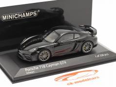 Porsche 718 (982) Cayman GT4 Année de construction 2020 noir 1:43 Minichamps