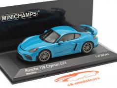 Porsche 718 (982) Cayman GT4 建设年份 2020 miami 蓝色 1:43 Minichamps