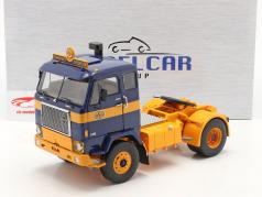 Volvo F88 Lastbil ASG Transport 1971 blå / gul 1:18 Model Car Group