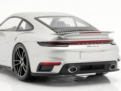 Porsche 911 (992) Turbo S year 2020 GT silver metallic 1:18 Minichamps