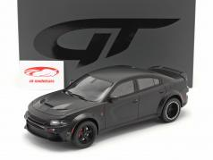 SPEEDKORE Dodge Charger SRT Hellcat Widebody 2019 måtte sort 1:18 GT-Spirit