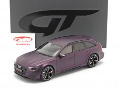 Audi RS 6 Avant (C8) year 2020 mat purple 1:18 GT-Spirit