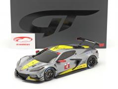 Chevrolet Corvette C8.R #4 Presentation Car 2020 Grå / gul 1:18 GT-Spirit