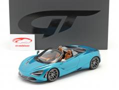McLaren 720S Spider year 2018 belize blue 1:18 GT-Spirit