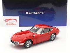Toyota 2000 GT Coupe Année de construction 1967 rouge 1:18 AUTOart