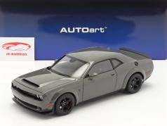 Dodge Challenger SRT Demon Année de construction 2018 grise 1:18 AUTOart