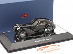 Bugatti 57S Atlantic Bouwjaar 1938 zwart 1:43 AUTOart