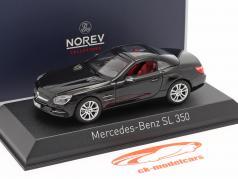 Mercedes-Benz SL 350 Roadster Byggeår 2012 sort 1:43 Norev