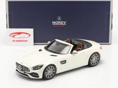 Mercedes-Benz AMG GT C Roadster 建設年 2019 白い メタリック 1:18 Norev