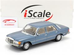 Mercedes-Benz Clase S 450 SEL 6.9 (W116) 1975-1980 azul metálico 1:18 iScale