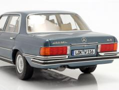 Mercedes-Benz Classe S 450 SEL 6.9 (W116) 1975-1980 azul metálico 1:18 iScale