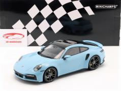 Porsche 911 (992) Turbo S Baujahr 2020 gulf blau 1:18 Minichamps