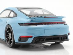 Porsche 911 (992) Turbo S year 2020 gulf blue 1:18 Minichamps