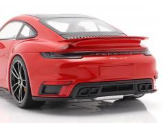 Porsche 911 (992) Turbo S Год постройки 2020 охранники красный 1:18 Minichamps