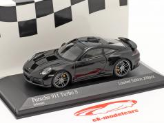 Porsche 911 (992) Turbo S 2020 黒 / 銀 リム 1:43 Minichamps