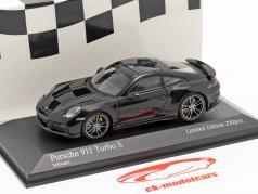 Porsche 911 (992) Turbo S 2020 schwarz / silberne Felgen 1:43 Minichamps