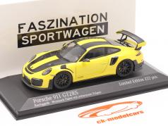 Porsche 911 (991 II) GT2 RS Weissach pakket 2018 racing geel / zwart velgen 1:43 Minichamps