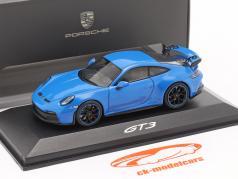 Porsche 911 (992) GT3 Ano de construção 2021 shark blue 1:43 Minichamps