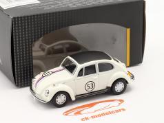 Volkswagen VW 甲虫 #53 Herbie 白い 1:43 Cararama