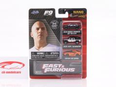 3-Car Set Nano Cars 映画 Fast & Furious 9 (2021) Jada Toys