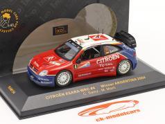Citroen Xsara WRC #4 winnaar rally Argentinië 2004 1:43 Ixo