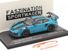 Porsche 911 (991 II) GT2 RS Weissach Package 2018 miami 蓝色 / 黑色的 轮辋 1:43 Minichamps
