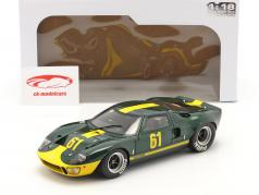 Ford GT40 MK1 #61 verde escuro metálico / amarelo 1:18 Solido