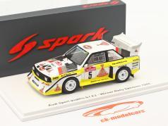 Audi Quattro Sport E2 #5 vinder Rallye SanRemo 1985 Röhrl, Geistdörfer 1:43 Spark