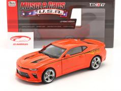 Chevrolet Nickey Super Camaro year 2016 hugger orange 1:18 AutoWorld