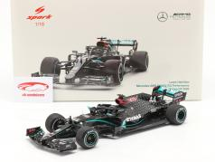 L. Hamilton Mercedes-AMG F1 W11 #44 Winner British GP F1 World Champion 2020 1:18 Spark