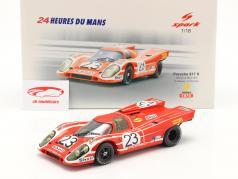 Porsche 917K #23 vinder 24h LeMans 1970 Attwood, Herrmann 1:18 Spark
