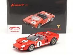 Ford GT40 X1 #1 ganador 12h Sebring 1966 Miles, Ruby 1:18 Spark