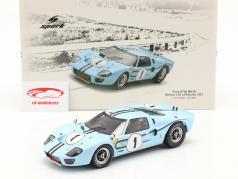 Ford GT40 MK2B #1 vinder 12h Reims 1967 Ligier, Schlesser 1:18 Spark