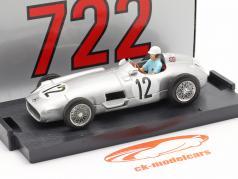Stirling Moss Mercedes-Benz W196 #12 Ganador británico GP fórmula 1 1955 1:43 Brumm