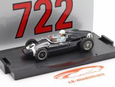 Stirling Moss Cooper T51 #14 vencedora italiano GP Fórmula 1 1959 1:43 Brumm