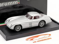 Mercedes-Benz 300 SLR Coupe Uhlenhaut Bouwjaar 1955 zilver 1:43 Brumm