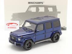 Mercedes-Benz AMG G63 Ano de construção 2018 azul metálico 1:18 Minichamps